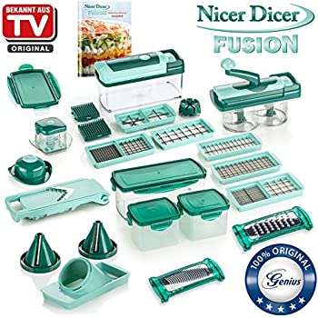 genius nicer dicer chef deluxe set 34 teile obst gem seschneider bekannt. Black Bedroom Furniture Sets. Home Design Ideas