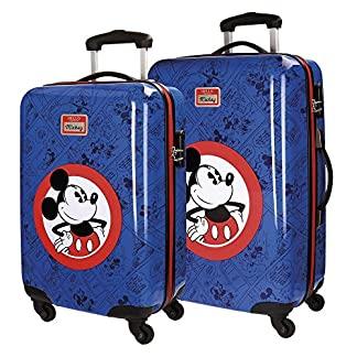 Disney Hello Mickey Maleta, 68 cm, 97 Litros, Set de 2