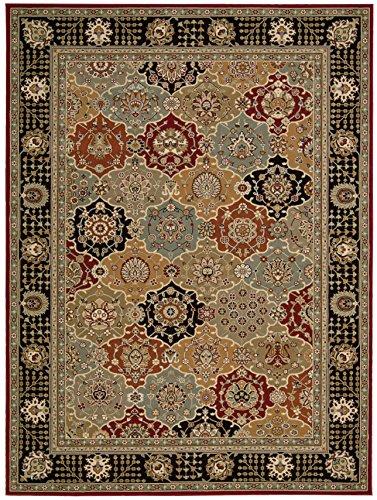 Nourison Teppich Mondrian 99446178718-Schwarz Maschine Made Teppich, schwarz, 3ft 9Zoll x 5ft 9Zoll -