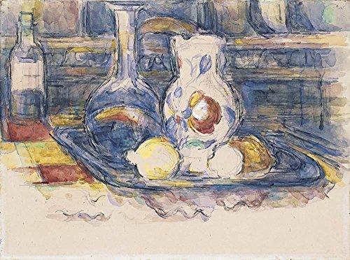 Das Museum Outlet-Stillleben mit Flasche, Karaffe, Krug und Zitronen, 1902-06-A3Poster -