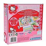 Clementoni–62139–Gesellschaftsspiel–Koffer–30Spielesammlung Hello Kitty