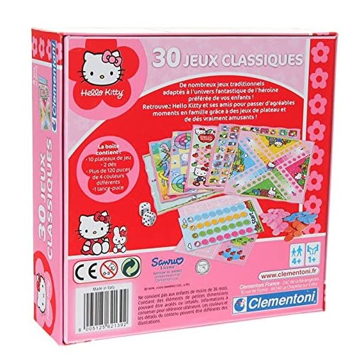 Clementoni–62139–Gesellschaftsspiel–Koffer–30-Spielesammlung-Hello-Kitty Clementoni–62139–Gesellschaftsspiel–Koffer–30Spielesammlung Hello Kitty -