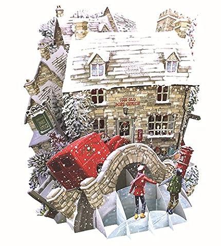 Papier d 'Art Weihnachten Karten–Die Old Post Office 3D Pop-Up-Karte