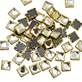#6: Embroiderymaterial Kundans for Jewellery,Craft,Embroidery Making(Square Shape 5MM 500 Pieces)