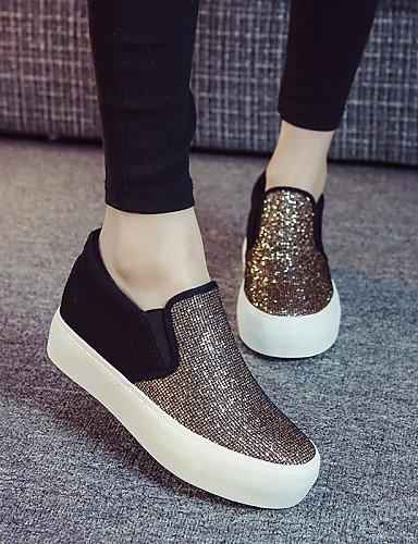 ZQ gyht Scarpe Donna - Sneakers alla moda / Scarpe da ginnastica / Senza lacci - Tempo libero / Ufficio e lavoro / Casual / Sportivo -Plateau / , black-us5.5 / eu36 / uk3.5 / cn35 , black-us5.5 / eu36 silver-us8 / eu39 / uk6 / cn39