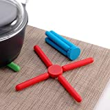 #6: Stick Hot mate, Hot Pot stand, Hot Plate Stand (Assorted Color) ( 6 Pieces )