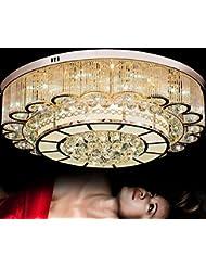 Moderno cristal lámpara salón de lujo ambiente dormitorio Villa LED lámparas de techo iluminación