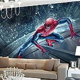 Murale Papier Peint Marvel Spiderman Enfants Garçons Enfants Photo Papier Peint3D Papier Peint Super-Héros Peintures Murales Art Intérieur Chambre Chambre Décor-250x175cm