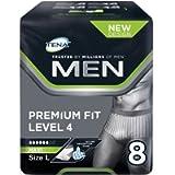 TENA Men Premium Fit Protective Underwear Level 4 - Large (6 Packs of 8)