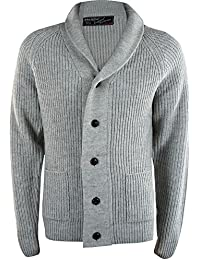 Chunky Collared Sweater for Men Thick Warm Jumper