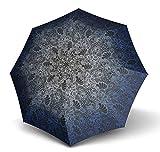 Knirps Fiber T2 Duomatic Regenschirm Taschenschirm Schirm eden blue