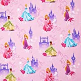 Disney© Princess Jersey Stoff / Kinderstoff - Disney© Motive - Cinderella, Rapunzel, Dornröschen, Tiana (per Meter)