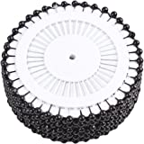 Lalang 480 x Round Faux Pearl Head Pins for Dressmaking Sewing Craft Wedding Decoration Black