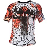 Rule Out Short Sleeve Rash Guard Top. Hooligans. No One Like Us We Don't Care. Gym. Training. Fitness. Running. Cycling. Kompression T-Shirt. MMA. Kampfsport T-Shirt(Größe XXLarge)
