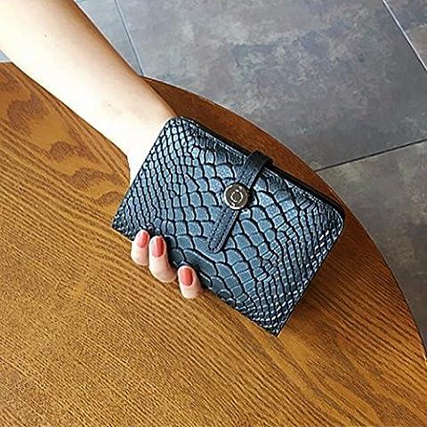 Versione coreana di banda capacità di disegno molto più cari a serpentina in pelle ritagliate piccole schede di portafoglio portafoglio