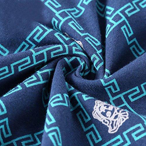 AISI da uomo in cotone traspirante sport spiaggia pantaloni Loose Cool Line spiaggia pantaloni, Blue, XXXXL Blue