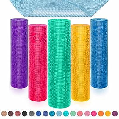 Yogamatte mit Memory-Schaumstoff | Spüre den Unterschied »Kirana« - sehr rutschfest aus ECO-PVC hergestellt - Maße: 183 x 61 x 0,4 cm - die ideale Unterlage für Yoga, Gymnastik, Fitness & Pilates.