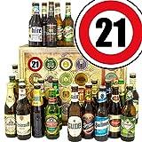 21. Geburtstag Geschenk für Freund + Geschenk Box mit 24 Bieren der Welt und Deutschland inkl. GRATIS Geschenk Karten + Bier-Bewertungsbogen Bierset + Biergeschenk + Personalisierte Geschenk Box - 21 + Biergeschenke für Männer. Besser als Bier selber machen oder selbst brauen. Geburtstagsgeschenk GeburtstagsBiergeschenk Set Freund Männergeschenke Geschenkideen für Ihn Geschenke Geburtstagsgeschenk 21 Geburtstagsgeschenke für Männer für Freund zum 21 Biergeschenke