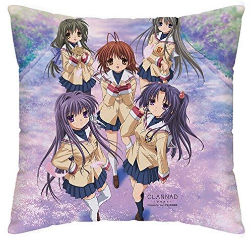 siawasey Anime Clannad Cartoon pillowslip Kissenbezüge Kissen Schutzhülle doppelseitig 45cm * 45cm (P # 01) -