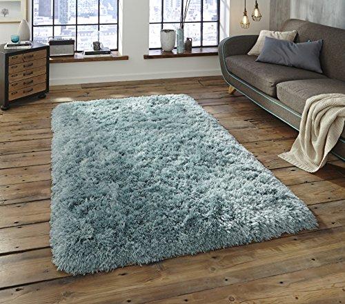 Polar grueso tejido a mano 8,5cm Shaggy alfombra suave lujosa alfombra grande (varios colores y tamaños), azul claro, 80 cm x 150 cm