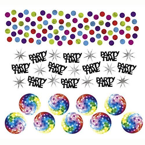 Kinder Jahre Disco Kostüm Fever 70er - PARTY DISCOUNT Konfetti Disco Fever, 3 Motive, 34 g