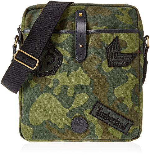 Timberland Cross Body Bag  Unisex Adults    Top-Handle Green  Green Camo   5x33x29 cm  W x H L
