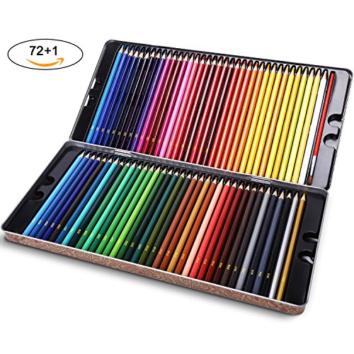 LOETAD Buntstifte Farbstifte 72 Farben Aquarell Bleistifte Zum Malen Skizzieren Kolorieren für Künstler Anfänger Schüler