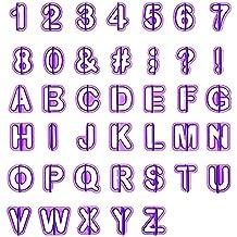 LIHAO Cortadores Fondant Letras Moldes Letras Repostería (40 Unidades)