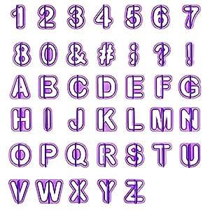 lihao 40pcs emporte pi ce lettres alphabet nombre d coupoirs pour d coration pte sucre. Black Bedroom Furniture Sets. Home Design Ideas
