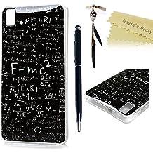 bq Aquaris E5s,bq Aquaris E5 4G LTE Funda Carcasa Silicona Gel - Mavis's Diary Case Ultra Delgado TPU Goma Flexible Cover Protectora para bq Aquaris E5s / E5 4G LTE / E5 HD - Funciones matemáticas