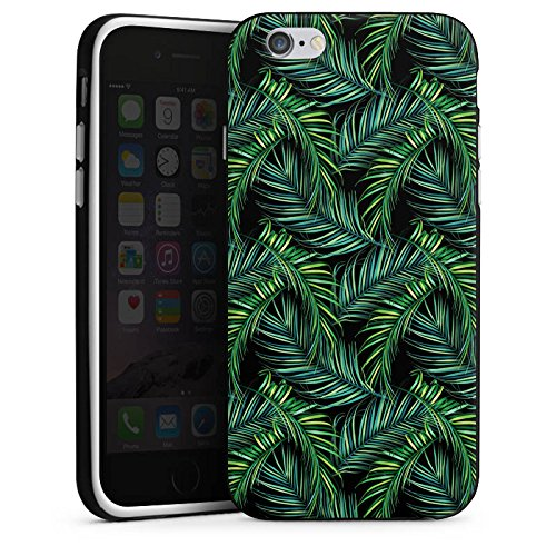 Apple iPhone X Silikon Hülle Case Schutzhülle Palmen dschungel Natur Silikon Case schwarz / weiß