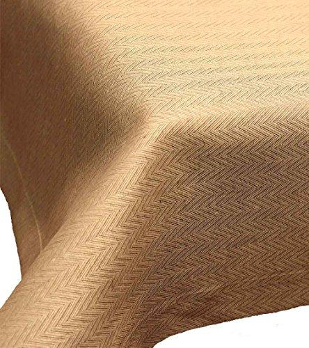 Driesse: centrotavola in puro lino con motivo a spina di pesce, torino, sesam, 100 x 100 cm