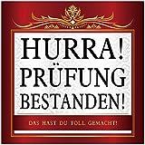 Udo Schmidt Aufkleber Hurra! Prüfung Bestanden Sticker 10 x 10 cm Führerschein Abschluss Abitur