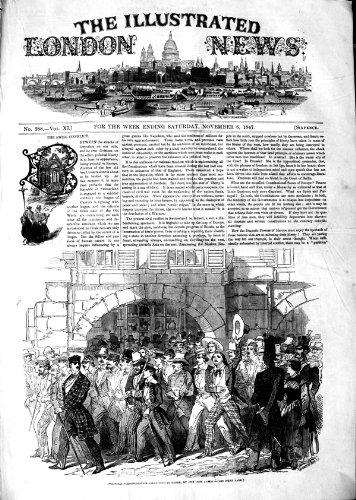 1847 DÉMONSTRATIONS POLITIQUES BERNE SUISSE DE RUE par original old antique victorian print