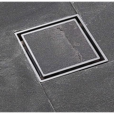 NHD-Fashion simple hidden Panel floor drain, copper and odor-resistant inner core drain, shower floor drain with large displacement TD50-10