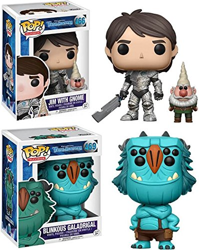 Funko POP Trollhunters Jim with Gnome Blinkous Galadrigal Stylized Vinyl Figure Bundle Set NEW