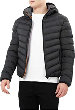 Mens Brave Soul Grant & Jose Hooded Plain Quilted Padded Puffer Jacket