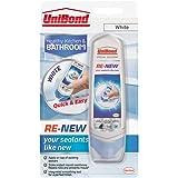 Unibond, sigillante siliconico bianco per rinnovare bagno, cucina, lavello o doccia, tripla protezione contro la muffa, confe
