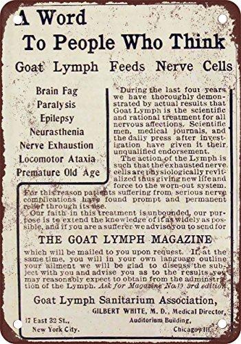 1905cabra-linfa-sanitarium-cure-reproduccin-de-aspecto-vintage-metal-tin-sign-7x-10pulgadas