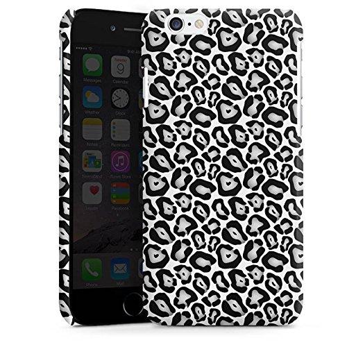 Apple iPhone 5 Housse Étui Protection Coque Animaux Look fourrure léopard gris Noir et blanc Cas Premium brillant