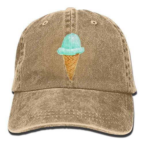 Voxpkrs Ice Cream Denim Baseball Caps Hut einstellbar Baumwolle Sport Strap Cap für Männer Frauen DV2386 -