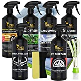 King of Sheen Waterless Car Cleaning Kit, Everything You Need to Clean Your