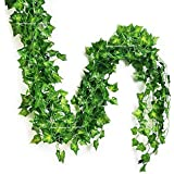 Sphinx Artificial Leaves Garlands/Creepers For Decoration - Pack Of 5 ( Assorted Shapes/Shapes As Per Stock)