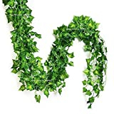 #4: Sphinx Artificial Leaves Garlands/Creepers For Decoration - Pack Of 5 ( Assorted Shapes/Shapes As Per Stock)