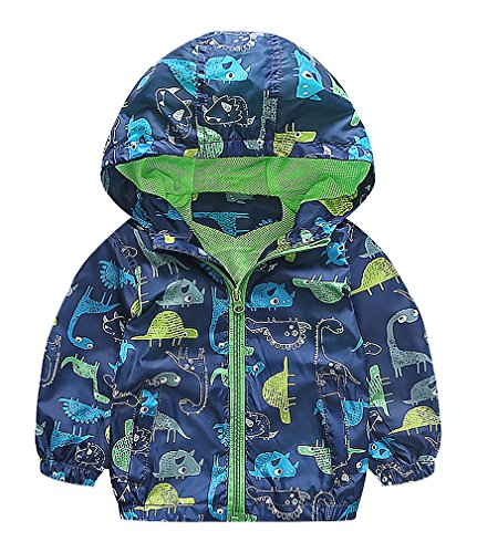zamot-boys-dinosaur-drawings-contrast-piping-zipper-closure-hooded-windbreaker-blue-4-yrs