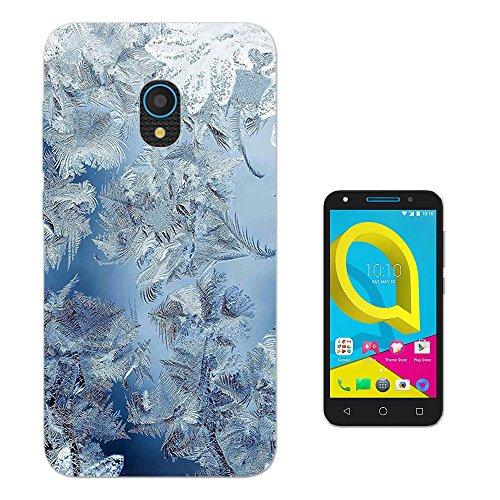 """Preisvergleich Produktbild 003511 - Cool Frozen Ice Crystals Feathers Design alcatel U5 HD 5.0"""" Fashion Trend Silikon Hülle Schutzhülle Schutzcase Gel Silicone Hülle"""