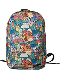 Bioworld Pokemon All-over Characters Print Backpack Casual Daypack, 45 cm, 15 Litre, Multicolour
