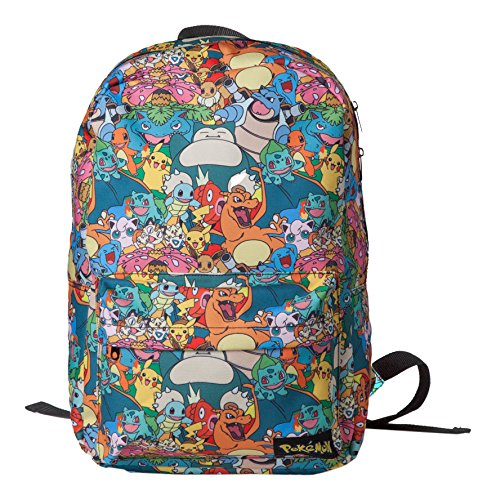 Bioworld Pokemon All-Over Characters Print Backpack Mochila Tipo Casua
