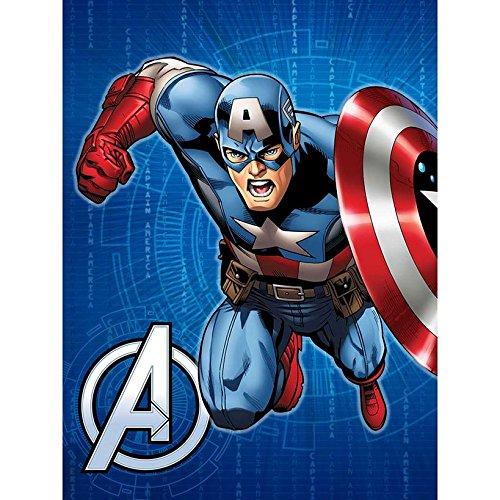 Disney Marvel Avengers Hero Twin Size Royal Plüsch Decke-Captain America (Heroes-twin Marvel)