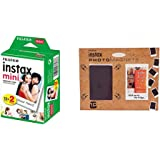 Fujifilm - Twin Films pour Instax Mini - 86 x 54 mm - 10 feuilles x 2 paquets + Aimants Photos